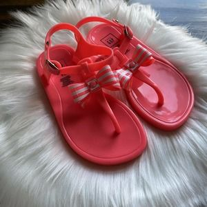 Baby Gap Bow Detail Pink Neon Sandals